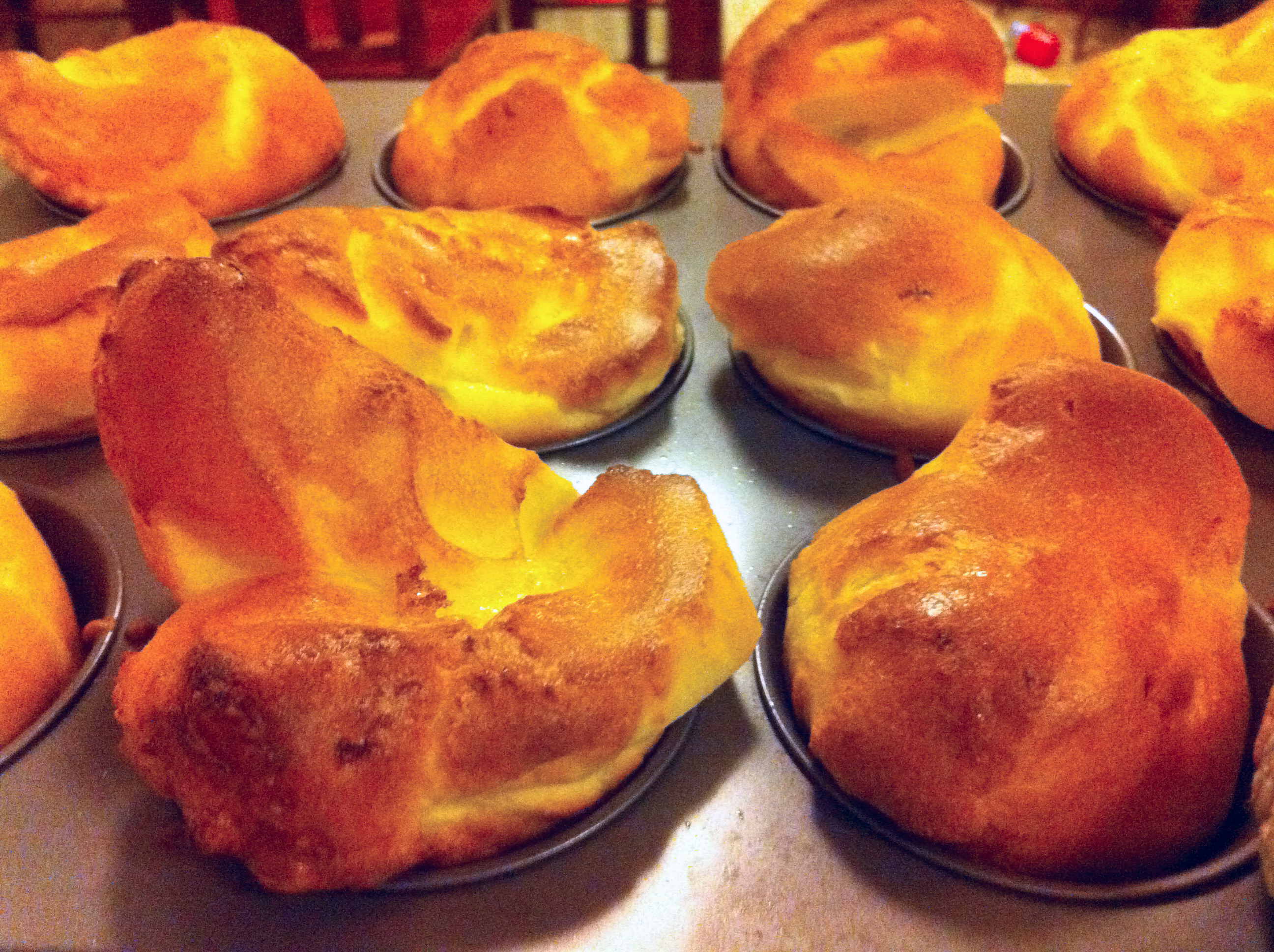 ... yorkshire pudding so I was pleased. They're pretty easy to make if